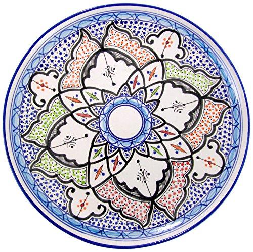 Le Souk Ceramique TIB42 Stoneware Round Platter Tibarine