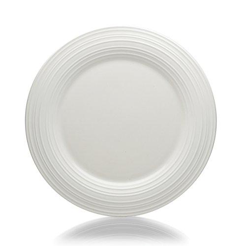Mikasa Swirl Round Dinner Plate 1125-Inch White