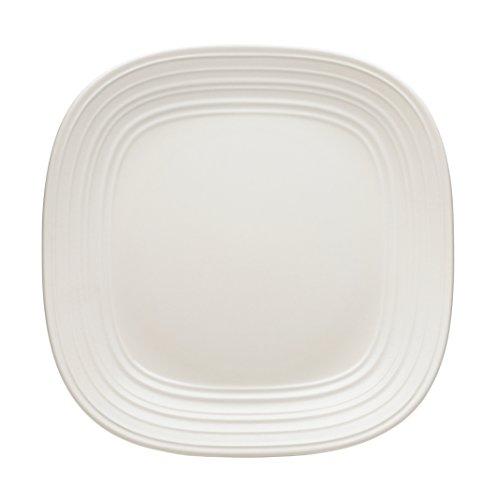 Mikasa Swirl White Square Dinner Plate 11-Inch