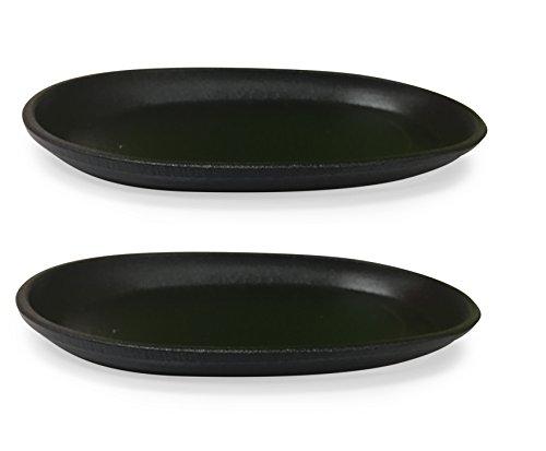 8 Cast Iron Steak Plate Set of 2