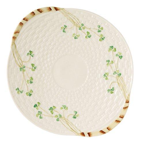 Belleek Group 0008 Shamrock Bread Plate 1125-Inch White