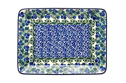 Polish Pottery Platter - Rectangular - Huckleberry