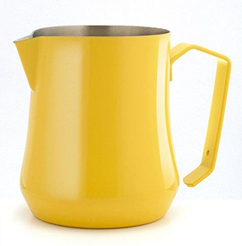 Motta MO-0425000 Stainless Steel Tulip Milk PitcherJug 17 fl oz50 Cl Yellow