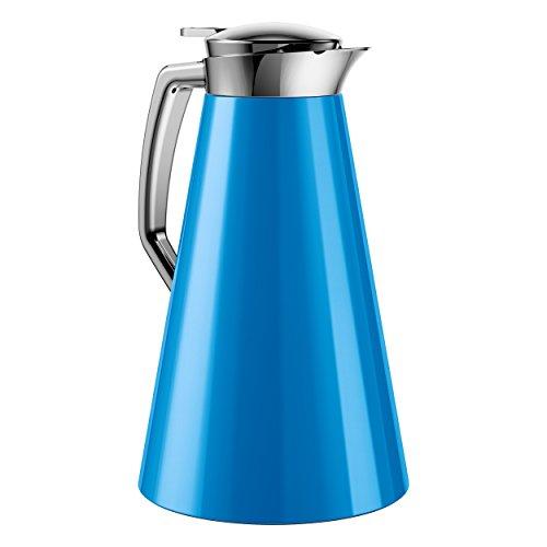 Emsa Cascaja Vacuum Jug Quick Tip 1 L Blueberry Tea Coffee Jug Vacuum Flask 514436