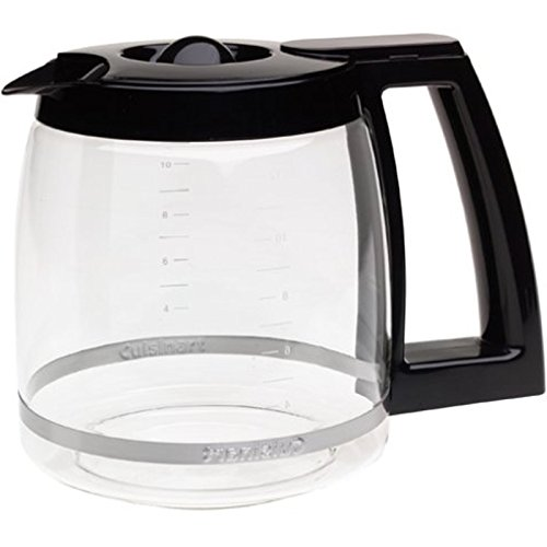 First4Spares Replacement Coffee Maker Machine Glass Carafe Jug for Cuisinart DCC-1200PRC Black