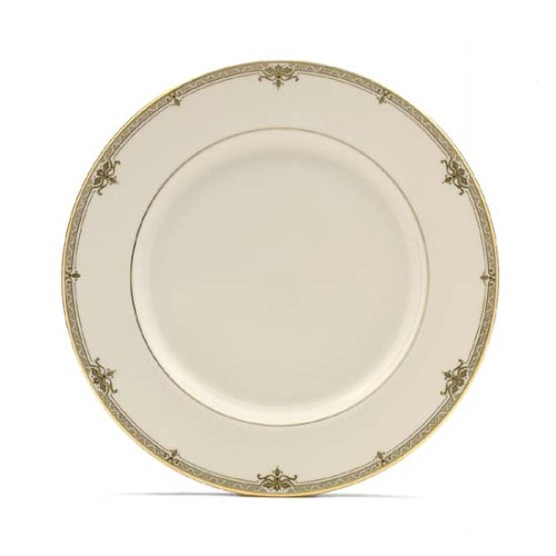 Lenox Republic Gold Banded Ivory China Dinner Plate