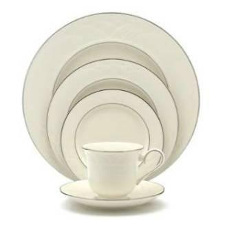 Lenox Sand Dune Platinum Ivory China Dinner Plate