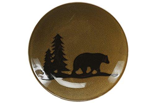 DEI Woodland Bear Stoneware Dinner Plate 11-Inch
