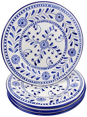 Le Souk Ceramique AZ43 Stoneware Dinner Plates Set of 4 Azoura