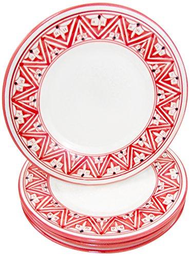 Le Souk Ceramique NJ43 Stoneware Dinner Plates Set of 4 Nejma