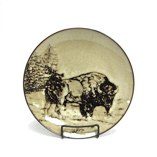 North America Woodlands Bison Stoneware Dinner Plate
