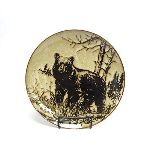 North America Woodlands Black Bear Stoneware Dinner Plate