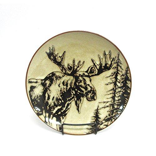 North America Woodlands Moose Stoneware Dinner Plate