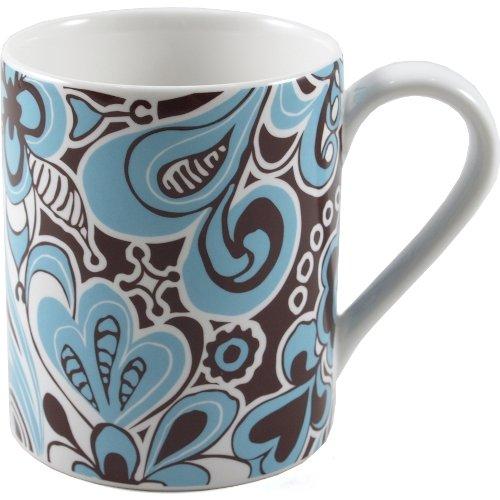 Corelle Blue Flowers Carousel Ceramic Mug Set of 4