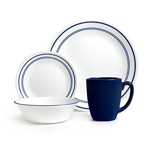 Corelle Livingware 16-Piece Dinnerware Set Classic Cafe Blue Service for 4