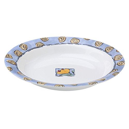 Corelle Impressions Watercolors 15 Ounce Rimmed Soup  Salad Bowl Set of 8