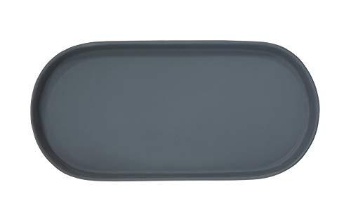 Bloomingville Stoneware Platter Matte Blue