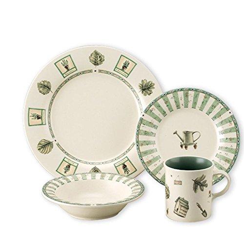 Pfaltzgraff Naturewood 16-Piece Stoneware Dinnerware Set Service for 4