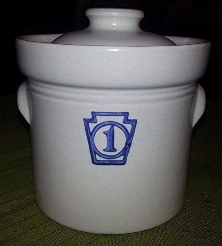 Vintage PFALTZGRAFF Stoneware 1 Croc Jar Container w Lid 5 Tall 5 Diameter