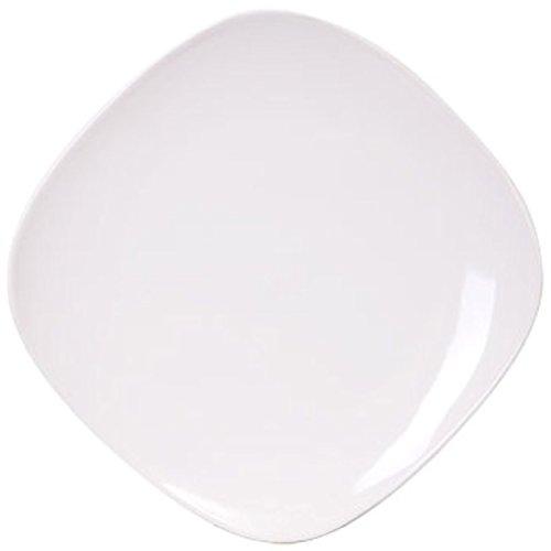 Royal Norfolk Contemporary White Square Stoneware Plate 10¼ 1 Piece