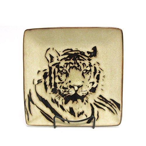 Wildlife Safari Tiger Square Stoneware Salad Plate