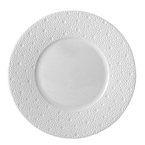 Bernardaud limoges ecume white blanc salad plate