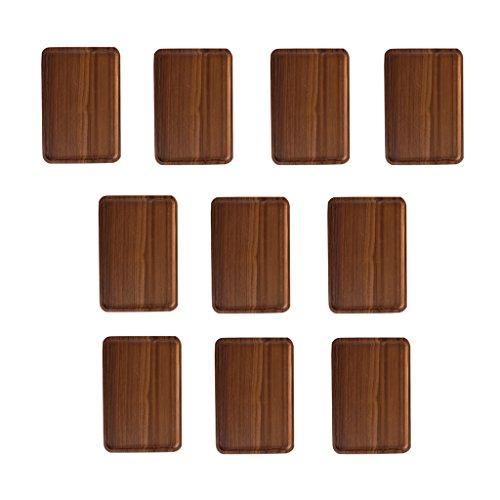 Homyl 10x Wooden Serving Tray Plate Tea Food Platter Home Decoration Plain Plate S