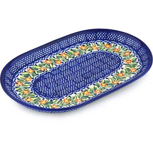 Ceramika Bona H0541H Polish Pottery Ceramic Platter Hand Painted 9-Inch