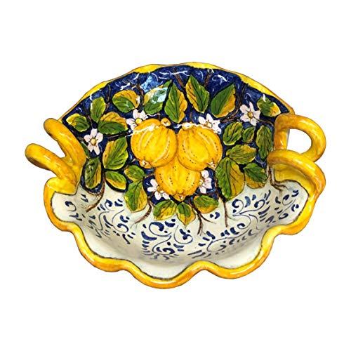 CERAMICHE DARTE PARRINI - Italian Ceramic Small Serving Bowl Decorated Three Lemons Art Pottery Made in ITALY Tuscan