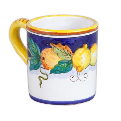 Daphne Hand Painted Italian Ceramic Mug From Deruta