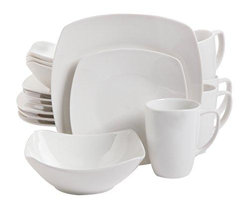 Gibson Home 16 Piece Zen Buffetware Dinnerware Set White