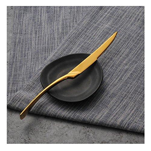 Western restaurant Stainless Steel Dinnerware Home Use Western Tableware Steak knife Gold 2 pcs