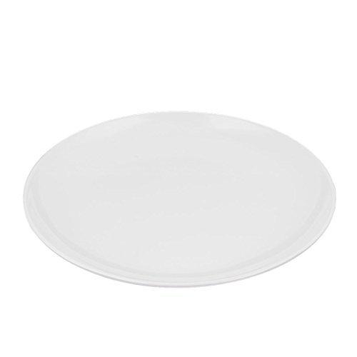 DealMux Melamine Home Kitchen Dinnerware Round Shape Dish Food Container Plate 255 x 25cm White