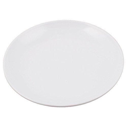 DealMux Melamine Home Round Fruit Salad Snacks Holder Dish Dinner Plate 175cm x 25cm White