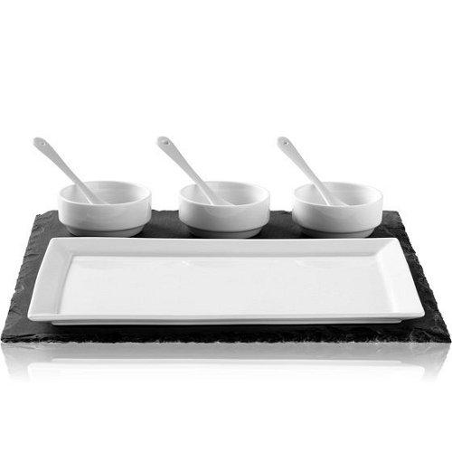 Luigi Bormioli Slate Porcelain 8-Piece Appetizer Set