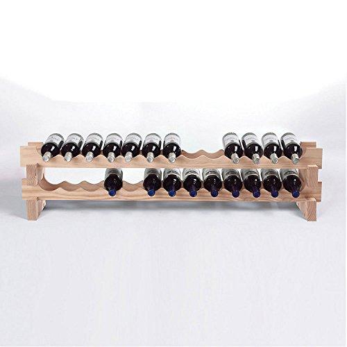 Wine Enthusiast 26 Bottle Stackable Wine Rack Kit