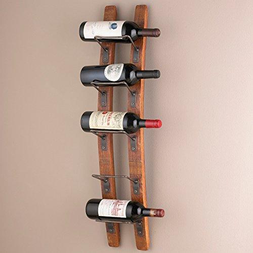 Wine Enthusiast Barrel Stave Wall Wine Rack
