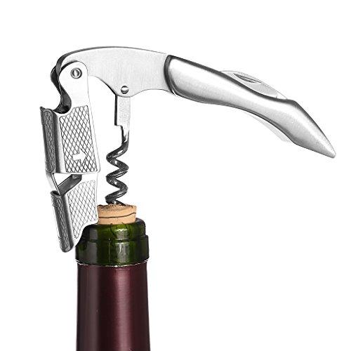 Kangnice All-in-one Waiters Corkscrew Stainless Steel Wine Bottles Opener Foil Cutter