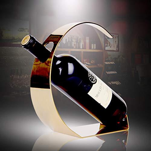 MLMHLMR Wine Rack Stainless Steel Wine Rack Modern Minimalist Wine Rack Living Room Fashion Display Stand 20×9×23cm Wine Rack