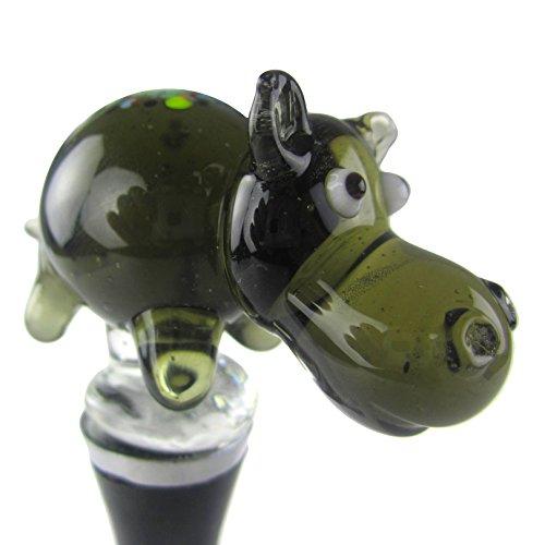 Zees Inc Pocket Bottles 14309 Handmade Glass Wine Bottle Stopper Multicolor