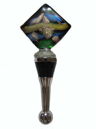 Art Glass Wine Bottle Stopper Cork Muli-color 121