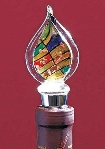 Art Glass Wine Bottle Stoppers Multicolor