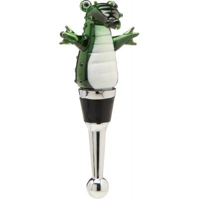 LS Arts Standing Gator Glass Wine Bottle Stopper