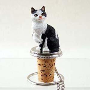 Conversation Concepts Black and White Cat Bottle Stopper