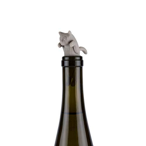 True Zoo Cat Bottle Stopper One Size Grey