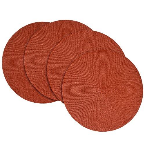 Benson Mills Victorian 15-Inch Round Placemats Brick Set of 4