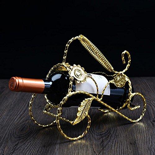 European-style wine rack creative wine rack vintage wrought iron wine rack Fashion home wine bottle ornaments-P