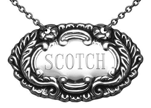 Scotch Liquor Decanter Label  Tag - Sterling Silver