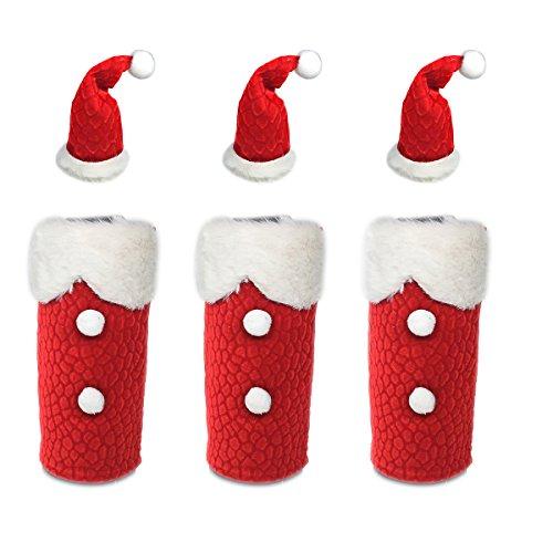 1 Set Christmas Wine Bottle Cover Holder Xmas Santa Wine Bottle Cap Cover Christmas Decor Ornament Style 02