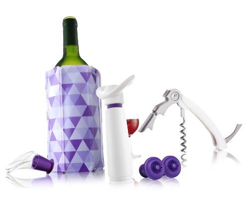 Vacu Vin Wine Essentials Gift Set - White  Purple